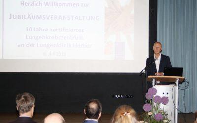 Lungenklinik gehört zu TOP5 der Lungenkrebszentren in Deutschland: 10 Jahre zertifiziertes Lungenkrebszentrum an der Lungenklinik Hemer