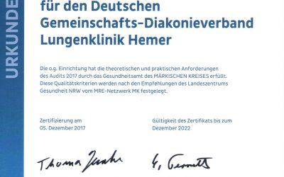 Märkischer Kreis erteilt erneut MRE-Zertifikat