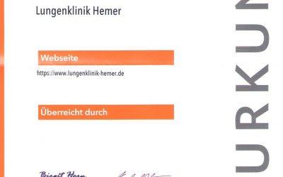 Gute Platzierung beim deutschen Homepage-Award